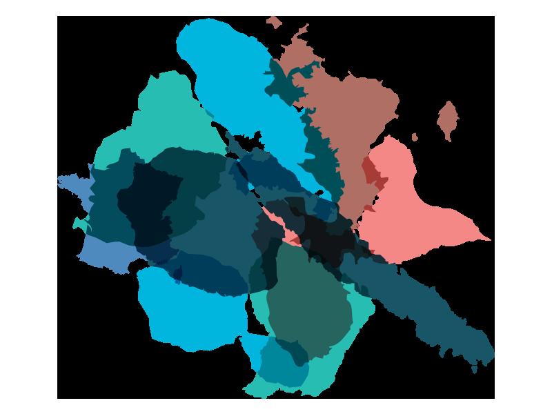 Maurice, Mayotte, Réunion, Caraïbes, Nouvelle-Calédonie, Paris, Tahiti